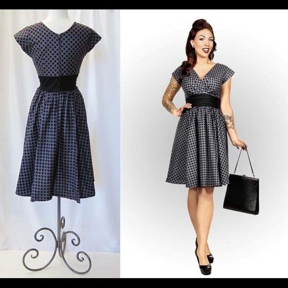 802b2c15802 NWT Folter Greta 50 s Style Polka Dot Dress